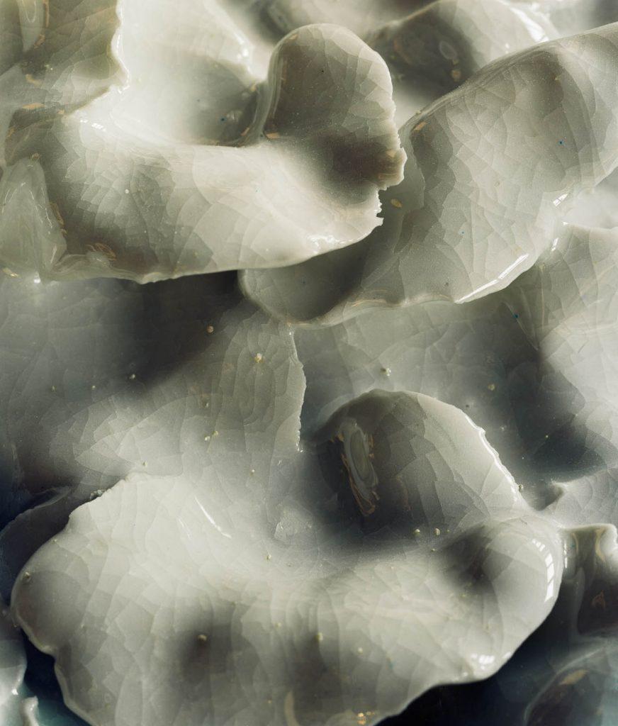 Glaserade keramikblad, detalj. Renata Francescon, Fruset šögonblick