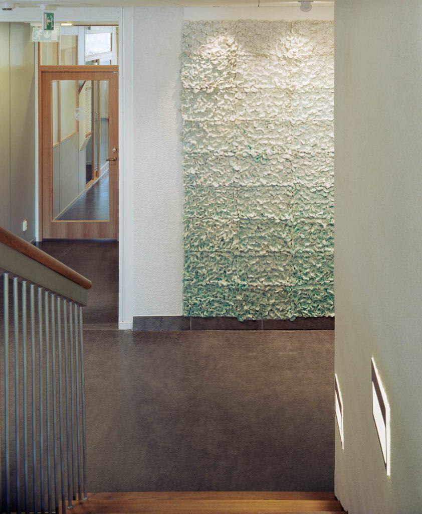 Vägg med keramikplattor, korridor. Renata Francescon, Fruset šögonblick