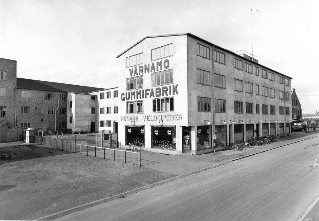 Gummifabriken i Värnamo, tidigt 1900-tal