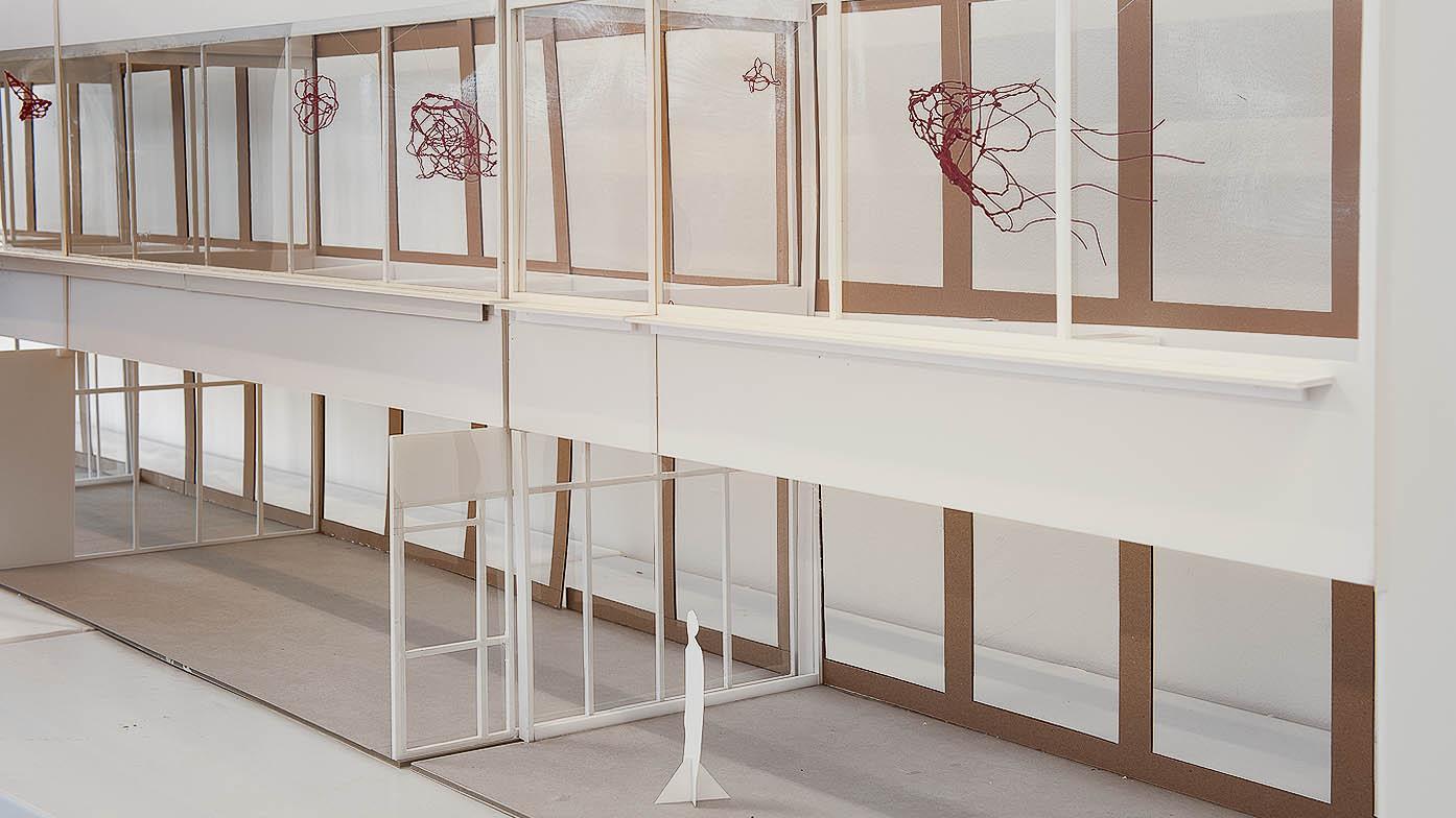 Modell av verkets placering. Helene Hortlund, Livsformer, 2013
