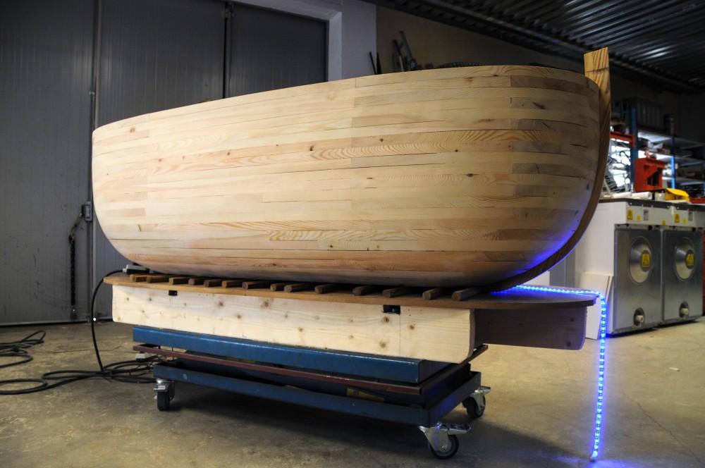 Arken under tillverkning. Jan Håfström Arken