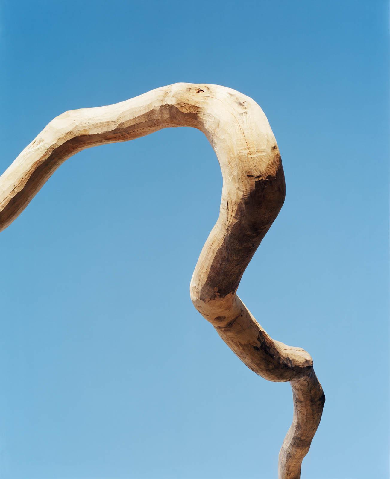 Den långa grenen är fri från bark och slätslipad. Malin Bogholt, Kontakt