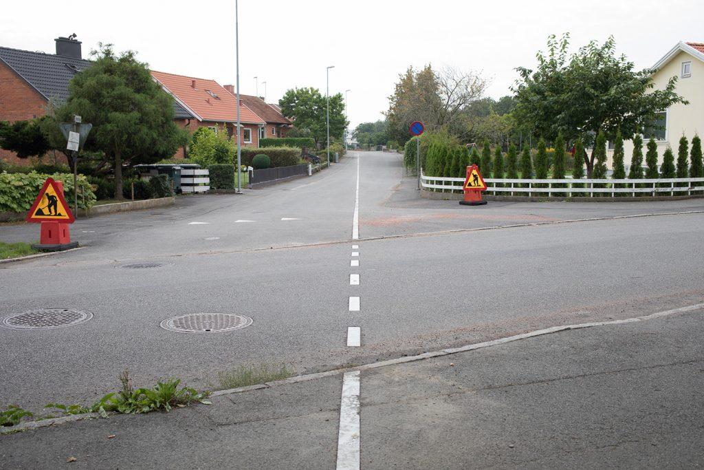 Marmorlinjen i gatan i Kristianstad