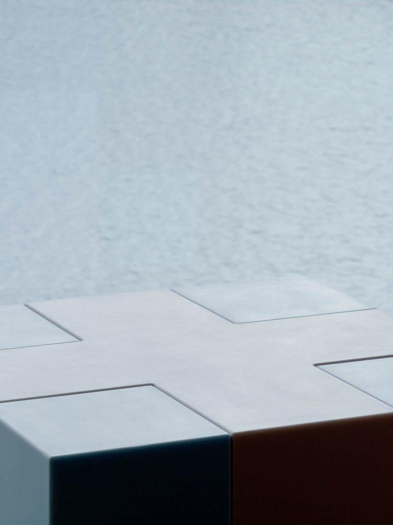 Vit och blå kub. Jacob Dahlgren, Tetris, 2012