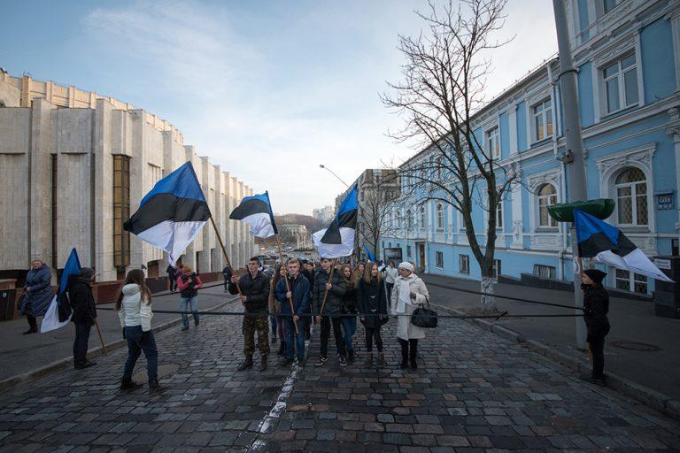 Verket Cross section av Public Movement, Pinchuk Art Center, Kiev, 2014.