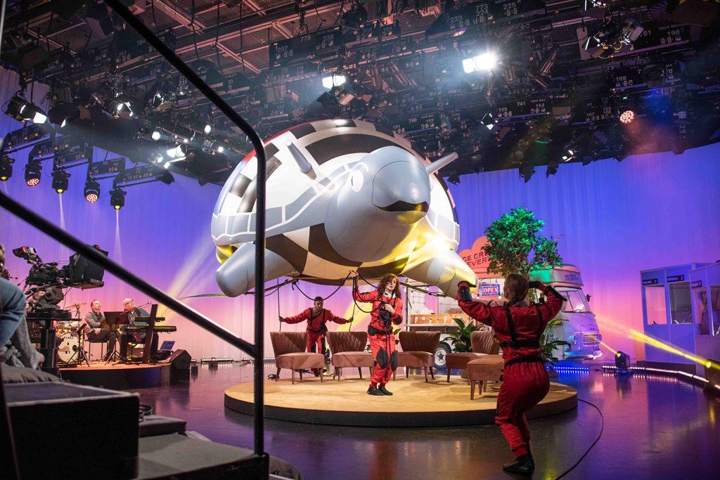 Inspelning av Television Without Frontiers i en TV-studio i Göteborg.