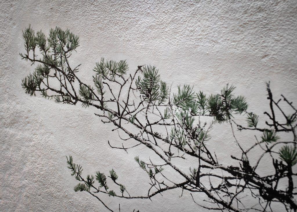 En bild av en tall på en vägg