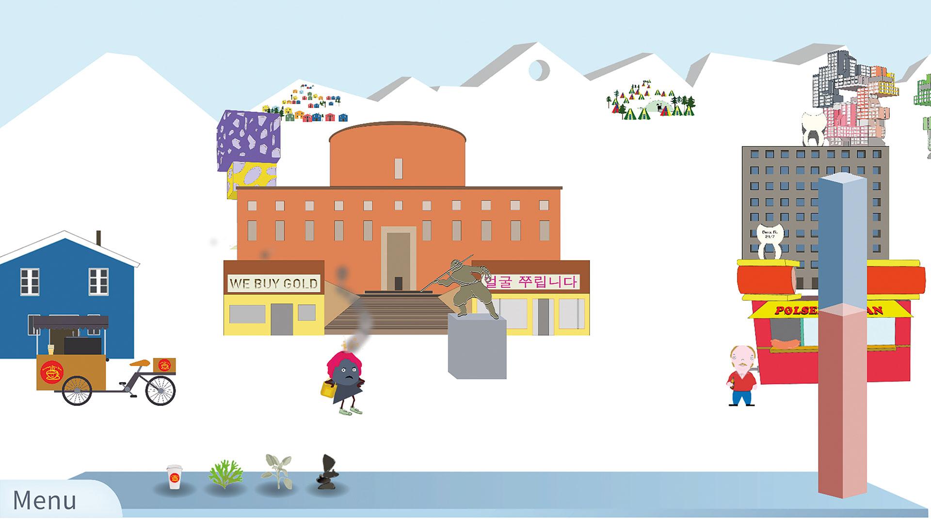 Bild från spelet Krabstadt Buttons