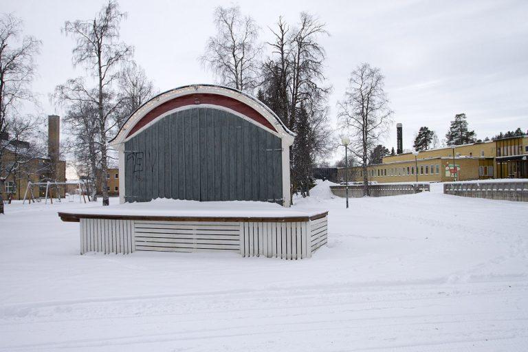 Scen, vinterlandskap